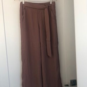 Wilfred blush pink wide leg pants
